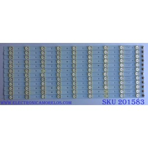 KIT DE LED´S PARA TV ( 12 PIEZAS) / RCA 01.JL.D5591235-31AS / 92M32 D140609 / D140609 / PANEL T550HVN03.3-12V / MODELO LED55G55R120Q
