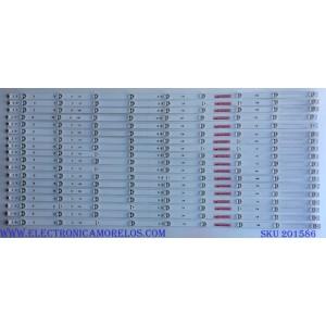 KIT DE LED´S PARA TV ( 18 PIEZAS) / SONY SVA650A09_SVA650A30_REV04_9LED_150519 / SD65S04E0309E / PANEL S650QF59 V3 / MODELO XBR-65X850C