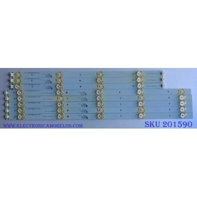 KIT DE LED´S PARA TV / ((INCOMPLETO SOLO 8 PIEZAS)) LSC470HN05-B01 / T470HVN01.V2 / CRH_TF473535090635LREV 1.1-R / CRH_TF473535090635LREV 1.1-LC / MODELOS ELEMENT ELEFT471 / SEIKI SE47FY19 /