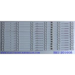 KIT DE LED´S PARA TV ( 12 PIEZAS) WESTINGHOUSE 3P55DX002 / 0355DX004 / A4-P-30 21004935 / 21004935 / E469119 / PANEL MD5508YTLU / MODELO WD55UT4490