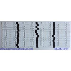 """KIT DE LED´S PARA TV ( 14 PIEZAS) HITACHI SJ.HK.D6500801-2835BL-M / SJ.HK.D6500801-2835BR-M / 1.14.MD65002 / 1.14.MD65003 / 2301065F700180 / 151123D-HK.D650L01-2151-HL1004 / 151123D-HK.D650R01-2151-HL1004 / PANEL T650QVN02.0 / MODELO 65"""""""