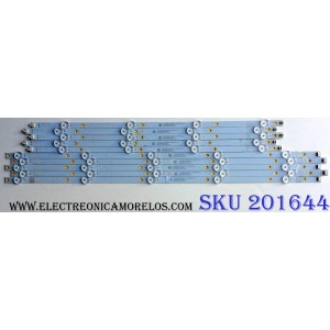 KIT DE LED'S PARA TV (10 PIEZAS) / INSIGNIA LB55135 V1_01 / E349386 / LB55135 V0_01 / 81075 / 2E59800000LE / 210BZ05DLB33MBM00L / 210BZ04DRB33MBM00L / PANEL TPT550U2-D072.L REV:S02B / MODELO NS-55DF710NA19