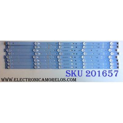 KIT DE LED'S PARA TV (8 PIEZAS) / TCL YHB-4C-LB3205-YHEX1 / 070915-rG7XFW / E334789 / PANEL LVF550CS0T E12 / MODELO