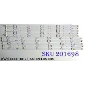 KIT DE LED'S PARA TV (10 PIEZAS) / LG 6916L-1987A / LG 6916L-1988A  140107 / LC550DUE (FG)(A4) / LC550DUE (FG)(A6) / MODELOS 55LB5550-UY / 55LB5900-UV / 55LB5900-UV.BUSWLJR / SUSTITUTAS 6916L-1991A / 6916L-1992A / 2232A / 2233A / T550HVF04.2