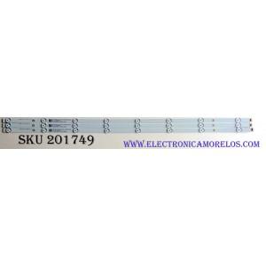 KIT DE LED'S PARA TV (3 PIEZAS) / SAMSUNG 58.43T16.001 / LBM430M0801-DM-3(0) / 58.43T0U.E01 / PANEL T430QN03.5 / MODELO UN43NU6900FXZA AZ02