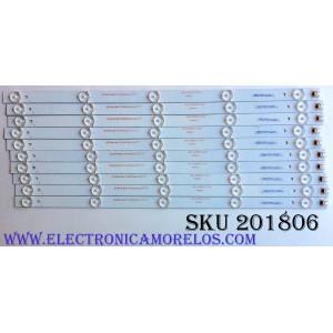 KIT DE LED'S PARA TV (10 PIEZAS) / WESTINGHOUSE ADS-DX50510-5X10 / 20160512 / 160614-120/123-L-3.2/3.4 / E177671B/PEC / T3S46-YZ-S006D-A / PANEL V500HJ1-PE8 REV.C7 / ADS-DX50510-5X10 / MODELO WD50FC1120 TW-00541-C050F