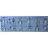 KIT DE LED'S PARA TV (12 PIEZAS) / SHARP / LB65073 V0 SS-L / 1196863 / PANEL HD650S1U71\S8\GM\ROH HISENSE