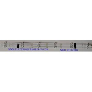 KIT DE LED'S PARA TV (3 PIEZAS) ROHS / SJ.H0.D4000601-3030AS-M-HF / 1.14.HBMD400001 / 180713S 0066DF B624 B1 1198052 / PANEL JHD400N2F31-TXL2B1QL ROHS / MODELO 40EU3000 / 40H4050E
