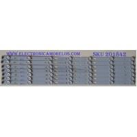 KIT DE LED'S PARA TV ((INCOMPLETO)) / TOT_55D2700_UD_8X7_3030C_V1 / YHF-4C-LB3207-YH2 / LVU550CS0T E1 TCL / MODELO 55US57TGAA