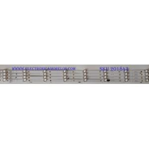 KIT DE LED'S PARA TV (4 PIEZAS) HISENSE / LB43053 / 1202459 / E469119 / PANEL JHD425S1U71\S0\FM\ROH  HISENSE / MODELO 43RGE