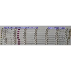 KIT DE LED'S PARA TV ((INCOMPLETO)) /  SAMSUNG BN96-39055A / BN96-39056A / D3GE-550SMA-R1 / D3GE-550SMB-R0 / SUSTITUTAS BN96-28772A / BN96-28773A / PANEL CY-DJ055BGHV1H / MODELOS UN55H6103AFXZP / UE55H6273SSXZG / UA55H6203ARXSJ / UA55H6203ARXTW
