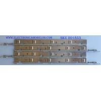 KIT DE LED'S PARA TV (4 PIEZAS) / SAMSUNG / BN64-01808A / BN64-01790A / SLED2011SVS60 V2 LEFT52 REV.1 110323 / PANEL CY-LD600DGD-V1 / MODELO UN60D7000VFXZA