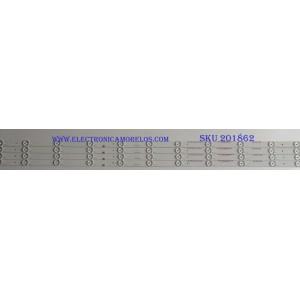 KIT DE LED'S PARA TV (4 PIEZAS) WESTINGHOUSE / B-CNCF43D599 / 910-430-1000 / M2 120-1231M 3.2-3.4V / PANEL T430-15D-DLED / MODELO WD43FC2380
