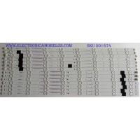 KIT DE LED'S PARA TV (14 PIEZAS)  / JVC / IC-C-VZAA65D390A / IC-D-VZAA65D390B / IC-D-VZAA65D390C / PANEL T650HVN05-B / MODELO EM65FTR