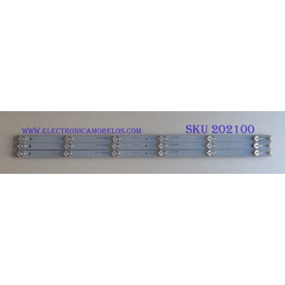 KIT DE LED´S PARA TV ( 3 PIEZAS ) / WESTINGHOUSE / K11  A8-L07-J / CRH-ES32CA3535060356JREV1.0  ZK / A8L07J2-2CA3588EA / ECHOM-32CA_4632CA024_A0 / MODELO 0B23CA0022F