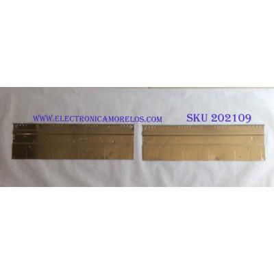 LED PARA TV (2 PIEZAS) / HISENSE / LBM550M0904 / LBM550M0904-AE-1(HF)(0)(L) / LBM550M0904-AF-1(HF)(0)(R) / MODELO MT5461D01-1 / 68.5CM X 20CM /