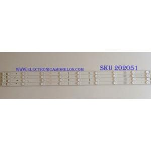 KIT DE LED´S PARA TV ( 4 PIEZAS ) / ELEMENT /  303TH400047 / TFGJ40D09-ZC21FG-02 / PANEL LSC400HN02-G02 / MODELO ELEFW408 P5G5M