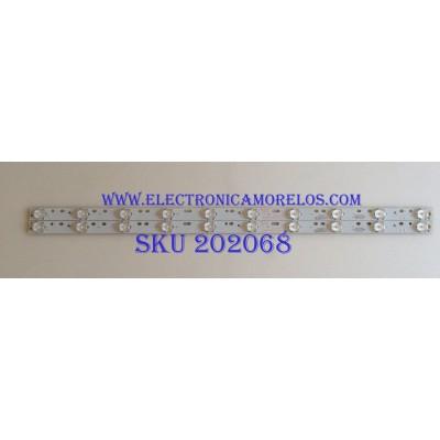 KIT DE LED'S PARA TV ( 2 PIEZAS ) / RCA / 303DH315037 / DH315D10-ZC15F-03 / MODELO RLED3221 A1611