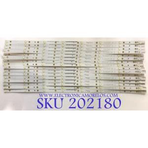 KIT DE LED'S PARA TV (14 PIEZAS) / VIZIO / T650QVF04.0 / LF E88441 / ZE65T330023LMQ1 / PANEL T650QVF04.0 / MODELO P652UI-B2