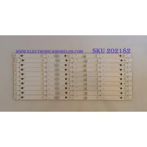 KIT DE LED'S PARA TV ( 10 PIEZAS ) / ELEMENT / 303TH500055 / TFGJ50D05-ZC21FG-07 / PANEL V500HJ1-PE8 REV.C7 / MODELO ELEFT506 P6C0M