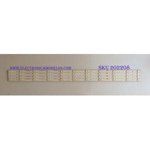 """KIT DE LED'S PARA TV (4 PIEZAS) / WESTINGHOUSE / C-CNCF43D599 / 910-430-1001 / M2 123-1261M 3.2-3.4 / PANEL T430-15D-DLED / MODELO 43"""""""