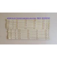 KIT DE LED'S PARA TV (12 PIEZAS) /  SVJ500A38 / 50D3000-D2000 / LB-C500F14-E4-A-G1-SE1 / SUJ500A38_REV00_5LED_L_140829 / PANEL T500HVN07.4 / MODELOS LE50A6R9 / LE50A6R9A