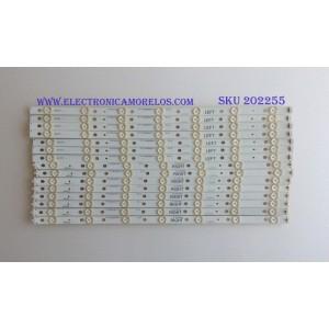 KIT DE LED'S PARA TV (15 PIEZAS) / PANASONIC / IC-BHWBR55D399R / 75.P3A02G001 / PANEL PAV5534 YOUNG LIGHTING / MODELO TC-55AS680U / NOTA IMPORTANTE : KIT CUENTA ORIGINALMENTE 16  PIEZAS ((INCOMPLETO 15  PIEZAS))
