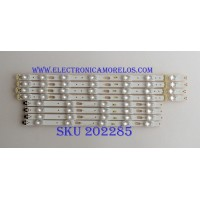 KIT DE LED´S PARA TV ( 8 PIEZAS ) / SAMSUNG / BN96-41220A / BN96-41221A / S_KU6K_43_FL30_L7_REV1.0_160119_LM41-00268A / S_KU6K_43_FL30_R5_REV1.0_160119_LM41-00269A / PANEL CY-GK043HGEV1H / MODELO UE43MU6120KXZT / MAS MODELOS EN DESCRIPCION
