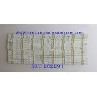 KIT DE LED'S PARA TV (14 PIEZAS) / HITACHI / SJ.HK.D6500801-2835BR-M / 1.14.MD650003 / 2301065F700180 / MODELO