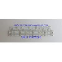 KIT DE LED'S PARA TV / SAMSUNG / BN96-35206A / BN96-35207A / 2013SVS50_3228N1_B2_L08 / LM41-00001Z / LM41-00001Q / PANEL'S CY-DH050BGAV1H / D500BGA-B1 / T500HVF02.2 / DH050CSA-B2  / (MODELOS EN DISCRIPCIÓN)