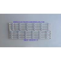 KIT DE LED'S PARA TV (10 PIEZAS) / CHANGHONG / 49D1000/C1000 / LB-C490F13-E2-L-G1-SE1 / LB-C490F13-E2-L-G1-SE2 / SVJ490A06_REV02_6LED_140605 / PANEL C490F14-E1-L (G3) / MODELO LED49YD1100UA