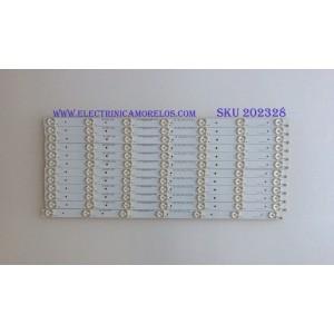 KIT DE LED'S PARA TV (12 PIEZAS) / PANASOIC / ELEMENT / 910-550-1029 / C-CNCF55D574 / PANEL'S T550HVN01.9 / T550HVN06.1 / T550HVN06.0 / MODELOS TC-55CX400U / TC-55CX420U / (MAS MODELOS EN DISCRIPCIÓN)