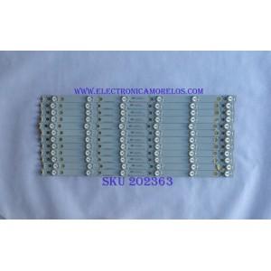 KIT DE LED´S PARA TV ( 12 PIEZAS ) / VIZIO / EVTLBM500P0601-DN-2 / 04-L0360205 / PANEL TPT500J1-HVN08.A  REV:S800A / MODELO D50U-D1