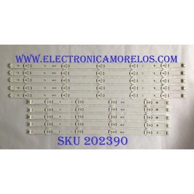 """KIT DE LED´S PARA TV ( 10 PIEZAS ) / LG / LG INNOTEK DRT 3.0 50""""_A TYPE REV02 #1_140218 / LG INNOTEK DRT 3.0 50""""_B TYPE REV02 #1_140218 / PANEL T500HVF05.0 / NC500DUN / MODELO 50LB6000"""