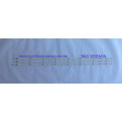 KIT DE LED´S PARA TV ( 3 PIEZAS ) / SAMSUNG / 303GC430044 / GC43D08-ZC22AG-17 / PANEL BOEI430WU1 / MODELOS UN43J5202AF / UN43N5300AF