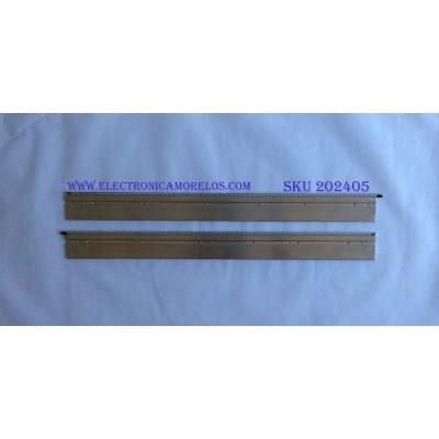 KIT DE LED'S PARA TV (2 PIEZAS) / VIZIO / 6916L-0781A / 6916L-0782A / 6922L-0003A LEFT 41 / 6922L-0004A RIGHT 41 / PANEL LC550EUA (AE)(F1) / MODELOS M3D550SL LAQKMXAN / M3D550SL LAQKMXBN / M550SL / 70 CM X 6 CM /