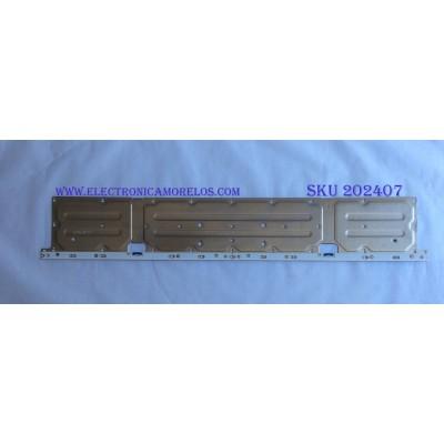 LED PARA TV ( 1 PIEZA ) / SAMSUNG / 45631A /  BN61-15535A / PANEL CY-SN55FLLV2H/ CY-SN055FLLV6H / MODELO UN55NU800DF / 1.20 M X 20 CM /