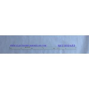 LED PARA TV ( 1 PIEZA ) / SAMSUNG / BN96-40173A / BN96-40174A / 40173A / 40174A / MODELO UN65KU7500FXZA / UN65KU750DFXZA / UN65MU7500FXZA / NOTA IMPORTANTE : KIT CUENTA ORIGINALMENTE 2 PIEZAS ((INCOMPLETO 1 PIEZA)) / 71 CM /