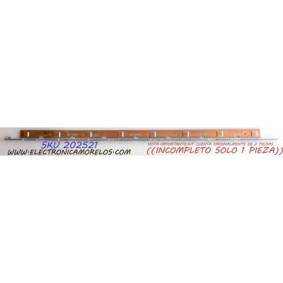 LED PARA TV / NOTA IMPORTANTE:KIT CUENTA ORIGINALMENTE DE 2 PIEZAS ((INCOMPLETO SOLO 1 PIEZA)) / SAMSUNG 2011SVS55 / D310721A 0BN64-01664A / 2011SVS55_6.5K_V2_1CH_PV_RIGHT100 / PANEL LTJ550HJ05-C / MODELOS UN55D6000 / UN55D6000SFBZA / UN55D6050