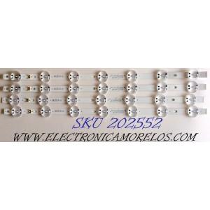 KIT DE LED´S PARA TV (4 PIEZAS) / LG EAV64592201 / SSC_Y19_Trident_50UM73_S / EAV6 4592 201 / SSC_Y19_Trident_50UM73 / SSC_Y19_Trident_50UM73_REV00_180705 / E469119 / PANEL NC500DQG-VXHX3 / MODELOS 50UM7300AUE / 50UM7300AUE.AUSJLJM / 50UM7300AUE.BUSJLJM