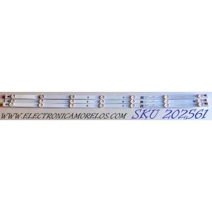 KIT DE LED´S PARA TV (3 PIEZAS) / RCA 40E6000 / LB-C400F16-E60-C-G01-XRD2 / CRH-Z40E6000303007036AD REV1.0 / CRH-Z40E6000303007036AD / E479275 / B181230A1CA / B18123OA1CA / Y162-L07-JA-2 / 208182 / PANEL C400F18-E61-C / MODELO RTR4060-B-US