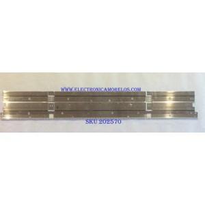 LED PARA TV (1 PIEZA) SAMSUNG  / BN96-46045A / V8N4-490SM0-R1 / BN61-16155A / PANEL CY-NR049HGLV1H / MODELO UN49RU8000F / 1.06 M X 15 CM /