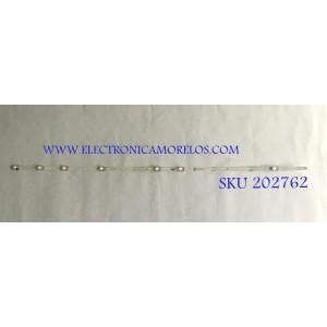 """""""LED PARA TV TCL / GIC43LB32_3030F2.1D / GIC43LB32_3030F2.1D_V0.9_20180704 / 4C-LB4311 / PANEL LVU430NDEL / MODELO 43S423LDAA / NOTA IMPORTANTE : KIT CUENTA ORIGINALMENTE 2 PIEZAS ((INCOMPLETO 1 PIEZA))"""""""