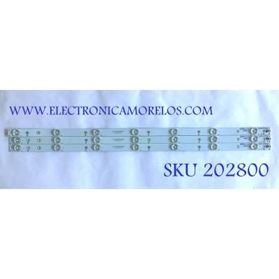 KIT DE LED'S PARA TV VIZIO (3 PIEZAS) / GJ-2K15-D2P5-315-D307-V4.1 / GJ-2K15-D2P5-315-D307-V4.1-ZENER / 01M22 / PANEL TPT315B5-HVN05.A / MODELOS E32-C1 / E32-C1 LTTWSJAR