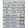 KIT DE LED'S PARA TV LG (8 PIEZAS) / 6916L-2452A / 2453A / 2551A / 2552A / 6916L-2551A / 6916L-2552A / 6916L-2452A / 6916L-2453A / PANEL LC490DGG-(FJ)(M1) / MODELOS 49UH6500-UB.BUSZLJR / 49UH6090-UJ.BUSWLOR