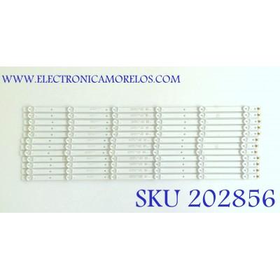 KIT DE LED'S PARA TV RCA (12 PIEZAS) / DLED65SMD 12X6 0005 / 65A06 / 50201002 / MODELO RNSMU6536-B