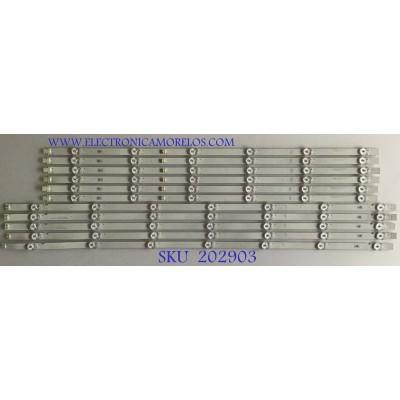 """""""KIT DE LED'S PARA TV SONY / I-6500SY80131 / I-6500SY80131-L-V2 / I-6500SY80131-R-V2 / MODELO XBR-65X800G / PANEL HV650QUB / NOTA IMPORTANTE : KIT CUENTA ORIGINALMENTE DE 12 PIEZAS ((INCOMPLETO 11 PIEZAS))"""""""