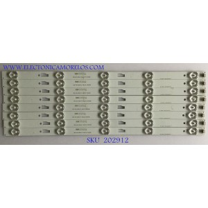 KIT DE LED'S PARA TV HITACHI / 035-430-3528-FC / JL.43051235-140CS-M / PANEL LVF430LGDX E1 V2 / MODELO LE43M109