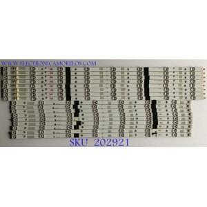 KIT DE LEDS PARA TV TOSHIBA (16 PIEZAS) / SV550AA0 / SV550AA0_REV04_L-TYPE_130710 / SV550AA0_REV04_R-TYPE_130710 / PANEL LC550DUK (SG)(K2) / 55L7500U