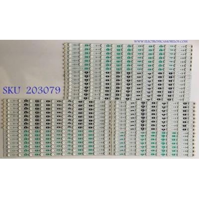 KIT DE LEDS PARA TV SHARP (45 PIEZAS) / 5070 / 5072 / 5073 / 5074 / PANEL LK800D3GW10Z / MODELO LC-80LE633U